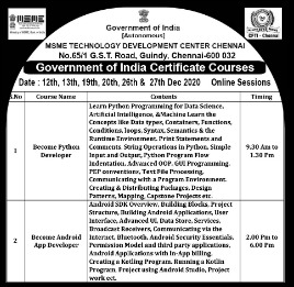 Government of India Certificate Courses