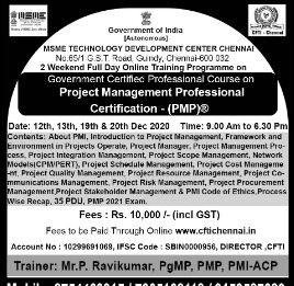 Project Management Professional Certification - (PMP)